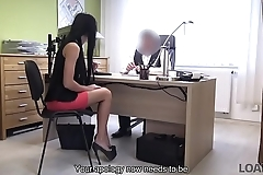 LOAN4K. Tricky loan agent is ready to help chick for sex services