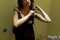 Horny cutie with soaking wet slit is in the mood for a fuck