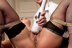 Recruitment agency. The young hairy client. BDSM bondage sex movie.