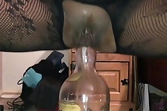 Homemade Girlfriend - Dirty British Milf Filmed Closeup on My i-phone, Squatting on a Huge Bottle Deep up Her Dirty Arse Hole - II