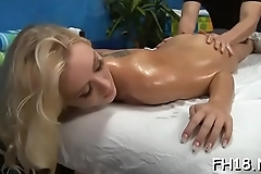 Cute receives a hard fuck by her masseur