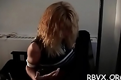 Perverted bondage time with nipp and love tunnel play