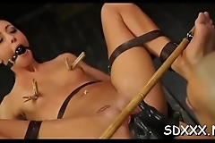Thick cock for stunning hottie who gets roped and blindfolded