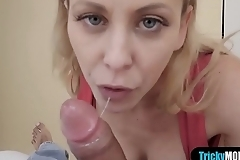 This happens when my busty stepmom sees my morning wood
