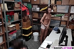 Tight Teen Pussy Gets Drilled For Shoplifting