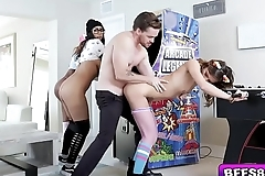 Arcade Gals enjoying this studs long rod making them so wet!