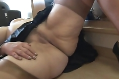 Prexy grown up babe cameltoe and buxom vagina sham