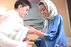 We surprise jordi wits gettin him his designing arab girl! gaunt legal age teenager hijab