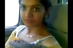 Cute desi bhabhi personate milky chest in passenger car just about darling