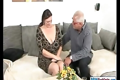 Padre with an increment of german bbw