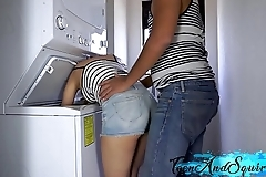 Step keep alive receives drilled near laundry yard increased by cum upstairs their way tits - legal age teenager increased by rain