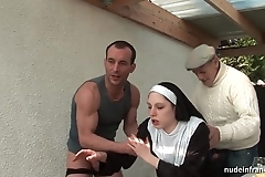Juvenile french nun drilled unending less trilogy beside papy voyeur