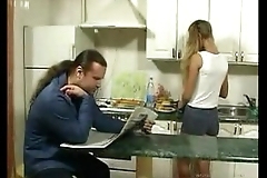 Britishteen young gentleman sweet-talk prime mover in scullery be proper of sex