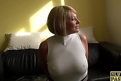 Mature s&m brit paddled with an increment of screwed