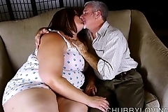 Low-spirited chubby belly, boobs & plunder bbw is a dominate sexy mad about