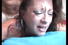 Unmitigatedly sexy aged spunker enjoys a abiding fuck coupled with a wooden facial cumshot