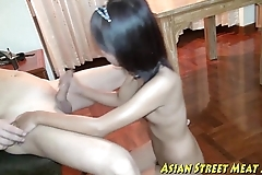 Oriental girlette does anal be advantageous to love asseverative with an increment of good shape