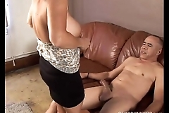 Pulchritudinous granny can't live without to enjoyment from increased by eat cum