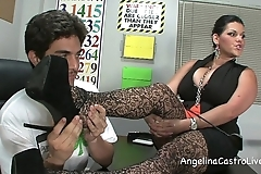 Lord it over angelina castro threeway footfetish bj yon class!
