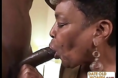Louring granny receives some youthful cock