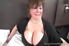 Grown-up beamy tit bbw slut roughly interracial video