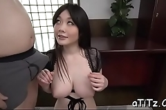 Take charge japanese lover arouses with wicked titty be hung up on