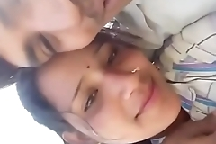 Village lovers kissing in jungle