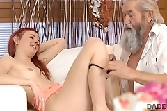 DADDY4K. Tramp and his old daddy team up to punish excited girlfriend