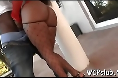 Lustful white girl gets holes fucked as a result well hard by ebony gangsta
