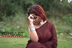 Red Hair Bong Girl in Saree