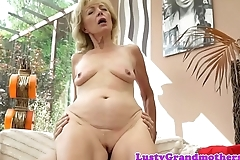 Saggy granny amateur fucks passionately