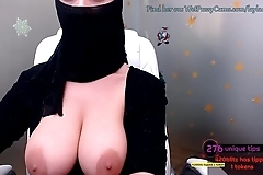 Muslim Cam Thot Plays With Big Tits For Tips