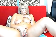 Blonde Big-Tits Amazing Masturbate on Cam