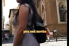 Candid camera huge boobs girl