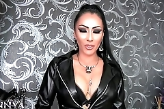 Mistress Kennya lets you beg to be released from chastity and wank preview